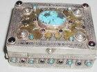Silver Gilt Garnet & Turquoise Box