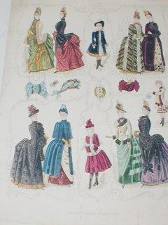Victorian Fashion Print