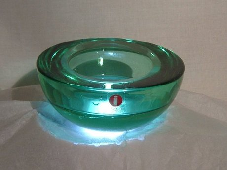 IITTALA Green Art Glass Bowl