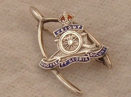 Vintage Silver Royal Artillery Sweetheart Brooch