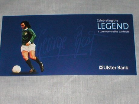 Rare George Best Commerative Ulster Bank Five Pound Note