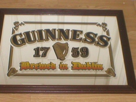 Genuine Large Guinness Pub Mirror