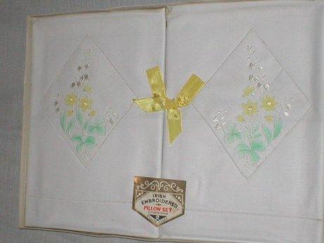 Irish Embroidered Pillow Set