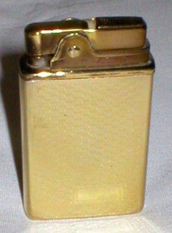 Vintage 1950s Gold Tone Crown Musical Petrol Lighter