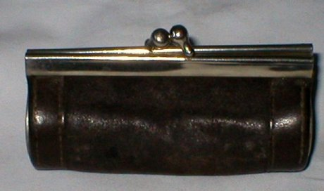 Antique Victorian Sovereign Leather Coin Purse