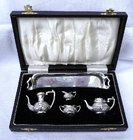 Miniature Silver Tea Set    S.J. Rose Birmingham 1972